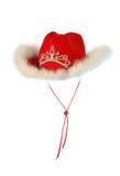 Cowboy Christmas hat. Isolated on white Royalty Free Stock Image