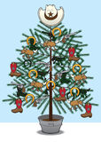 Cowboy Christmas Tree Stock Image