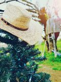 Cowboy Christmas arkivfoto