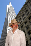 Cowboy in city Royalty Free Stock Image