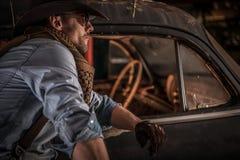 Cowboy Classic Cars Collector Fotografering för Bildbyråer