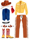 Cowboy clothes Royalty Free Stock Photos