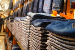 Cowboy clothing sold in cowboy clothing store. Royalty Free Stock Photo