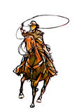 Cowboy color illustration Royalty Free Stock Image