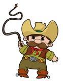 Cowboy com chicote Fotografia de Stock Royalty Free
