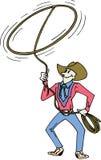 Cowboy com lasso Fotografia de Stock