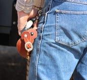 Cowboy con i denti cilindrici Fotografia Stock