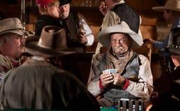Cowboy con il fronte di mazza immagine stock libera da diritti