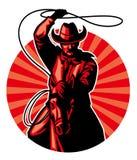 Cowboy con il lazo illustrazione di stock
