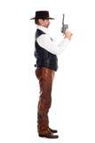 Cowboy con una pistola Immagini Stock Libere da Diritti