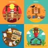 Cowboy Concept Set vector illustratie