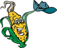 Cowboy Corn. Waving cowboy hat Vector Illustration