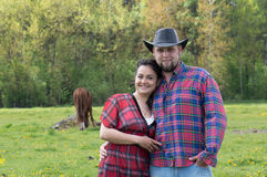 Cowboy couple Stock Photo