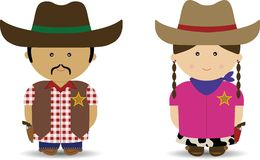 Cowboy & Cowgirl Stock Images