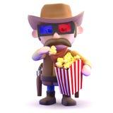 cowboy 3d ai film Fotografia Stock Libera da Diritti
