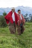 Cowboy dalla regione delle Ande nell'Ecuador Fotografie Stock