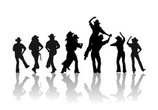 Cowboy dance Royalty Free Stock Photo