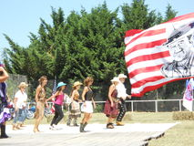 Cowboy dancers Royalty Free Stock Photo