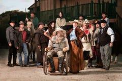 Cowboy danneggiato con W immagine stock libera da diritti