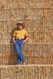 Cowboy Daydreaming Fotografia Stock Libera da Diritti