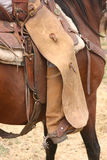 Cowboy days. Cowboys in the saddle, with chaps and spurs Stock Photo