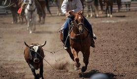 Cowboy de fin de support de corde Image libre de droits