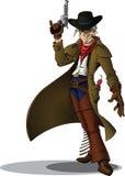 Cowboy de manieur de pistolet Image libre de droits