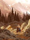 Cowboy de Montana ilustração royalty free