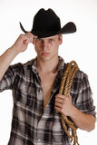 Cowboy de olhos azuis Fotografia de Stock Royalty Free