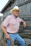 Cowboy de sourire photo libre de droits