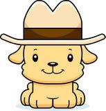 Cowboy de sourire Puppy de bande dessinée Image libre de droits