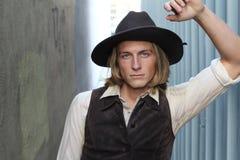 Cowboy 1900 de vintage Jeune homme Photographie stock