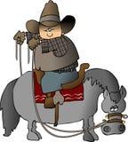 Cowboy de Wrongway ilustração stock