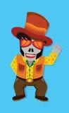 Cowboy del cranio Immagini Stock Libere da Diritti