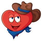 Cowboy del cuore del fumetto del ute del ¡ di Ð Fotografia Stock
