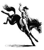 Cowboy del rodeo Fotografia Stock Libera da Diritti