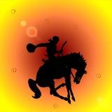 Cowboy del rodeo royalty illustrazione gratis
