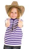 Cowboy della ragazza Fotografie Stock