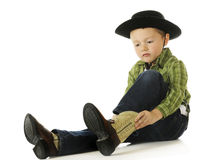 Cowboy, der aufgeladen erhält Lizenzfreie Stockbilder