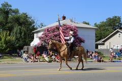 Cowboy an der Parade Stockbild