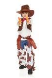 Cowboy des kleinen Jungen Stockfotografie