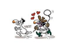 Cowboy di amore Immagini Stock