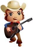 Cowboy di musica country Fotografia Stock