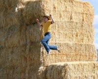 Cowboy di salto Fotografia Stock