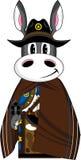 Cowboy di selvaggi West dell'asino del fumetto Immagine Stock