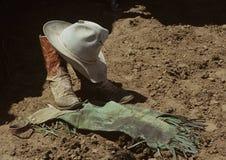 Cowboy die Kleding draagt Royalty-vrije Stock Afbeeldingen