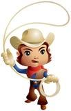 Cowboy die lasso werpen stock illustratie