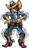 Cowboy die water vindt Royalty-vrije Stock Afbeeldingen