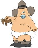 Cowboy do bebê ilustração royalty free
