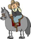 Cowboy do telemóvel Fotografia de Stock